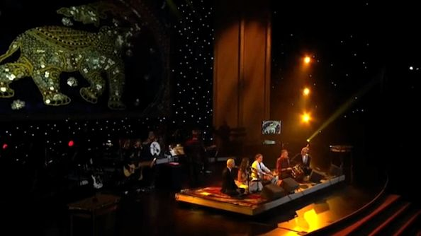 Krishna Das performs at the 2013 Grammys