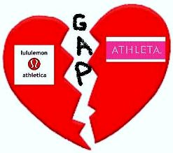 Lululemon and Athleta Broken By Gap