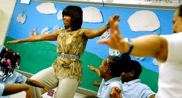 michelle-obama-classroom-yoga