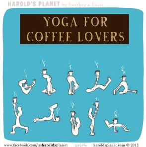 yoga for coffee lovers