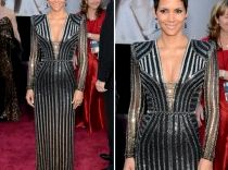One of those silver flourishes on Halle Berry's dress is a zipper to convert to space age yoga pants.