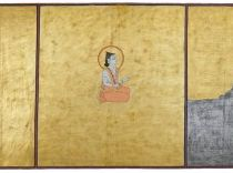 Folio 1 from the Nath CharitBulakiIndia, Rajasthan, Jodhpur, 1823 (Samvat 1880)Opaque watercolor, gold and tin alloy on paper, 47 x 123 cmMehrangarh Museum Trust, RJS2399