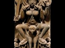 India, Uttar Pradesh, Kannauj, ca. 1000-1050 CESandstone, 86.4 x 43.8 x 24.8 cm | San Antonio Museum of Art, purchased with the John and Karen McFarlin Fund and Asian Art Challenge Fund, 90.92