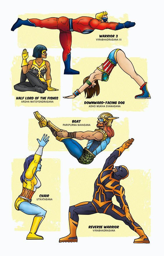 superhero yoga