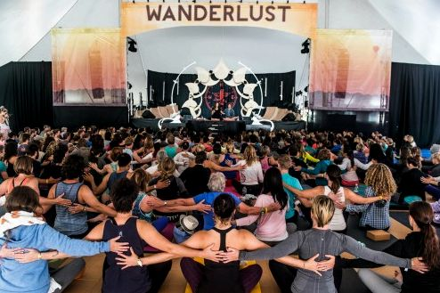 Wanderlust, one of the biggest yoga festivals keeps growing - an example of yoga's popularity on the rise. | photo credit: Ali Kaukas